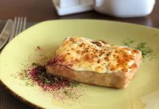 """Блинная лазанья с грибным жульеном в сливочном соусе в кафе """"Лавита"""""""