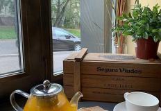 """Пряный чай по авторскому рецепту с яблочным штруделем в кафе """"Нора"""""""