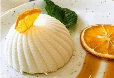 Морковный бисквит с мандариновым желе...