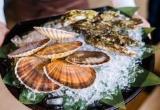 """Живые морепродукты в меню в ресторанe """"Ханами""""/Hanami"""