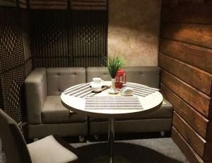 """Фотография интерьера кафе """"Вкусный дом"""" из аккаунта в Instagram"""