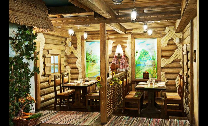 """Фотография интерьера ресторана украинской кухни """"Кабачок"""" (с сайта worldcoffe.ru)"""