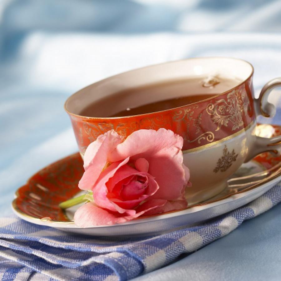 чашка чая в ресторане