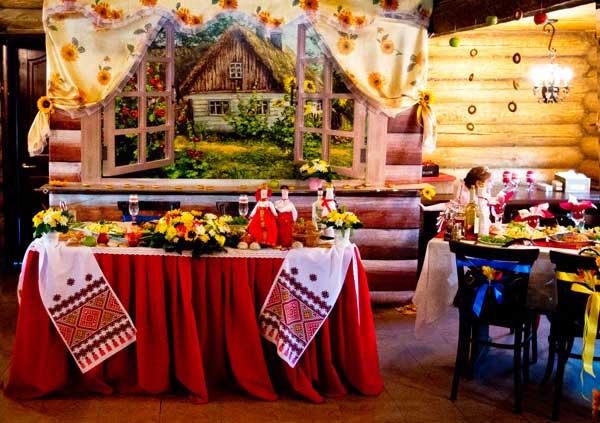 Оформление свадьбы в русском стиле
